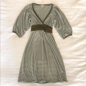 Ella Moss Striped V Neck Dress Top Nordstrom Small